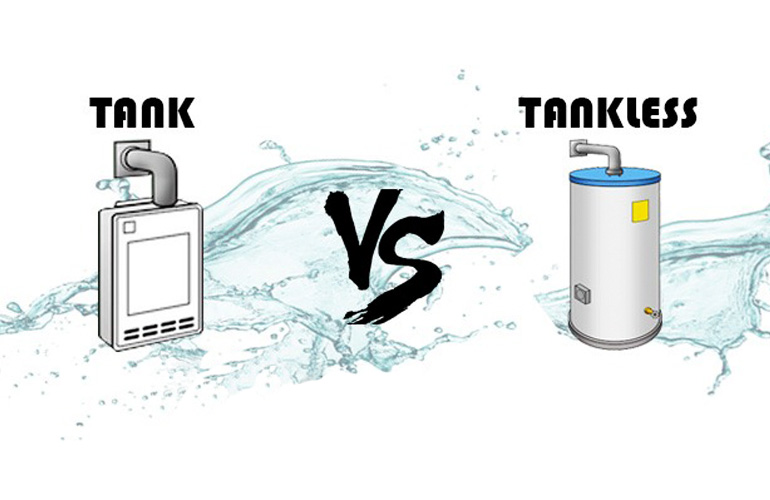 tank water vs tankless water heater
