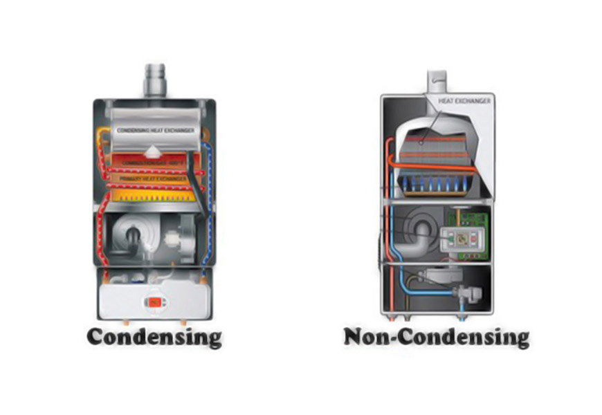 condensing vs non-condensing tankless water heater