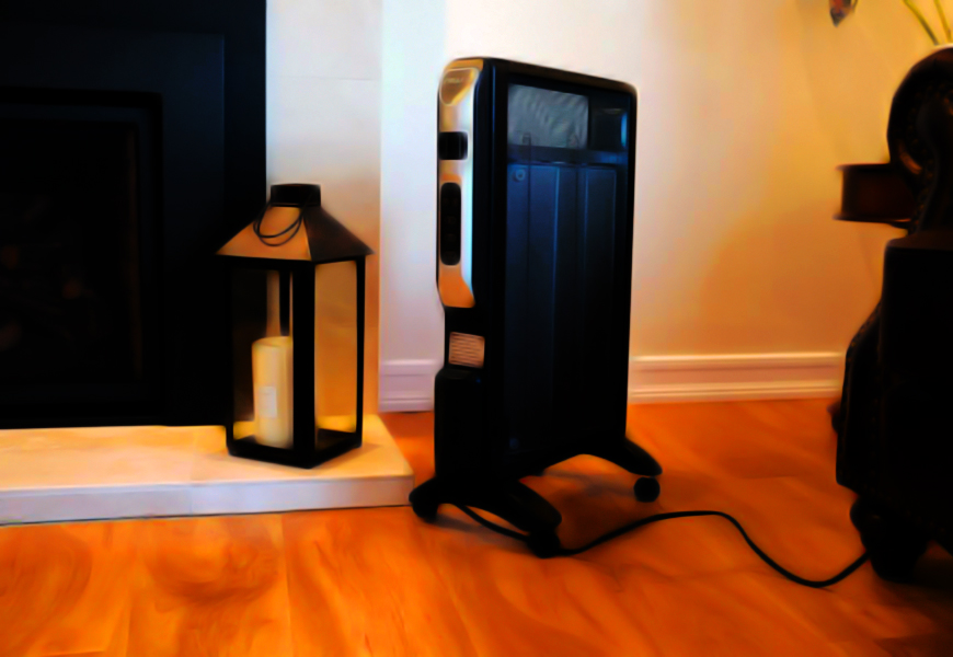 Provides Warmth With The Space Heater For Large Room